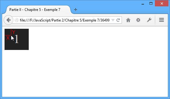 La valeur X désigne le décalage (en pixels) entre les bordures gauche de l'élément et du curseur, la valeur Y fait de même entre les bordures supérieures